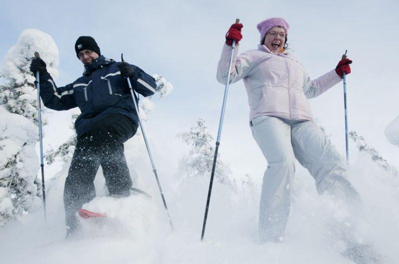 finnish lapland ruka snowshoeing