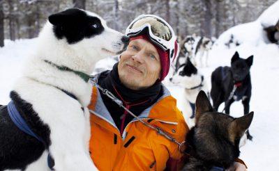 finnish lapland visiting husky farm vf