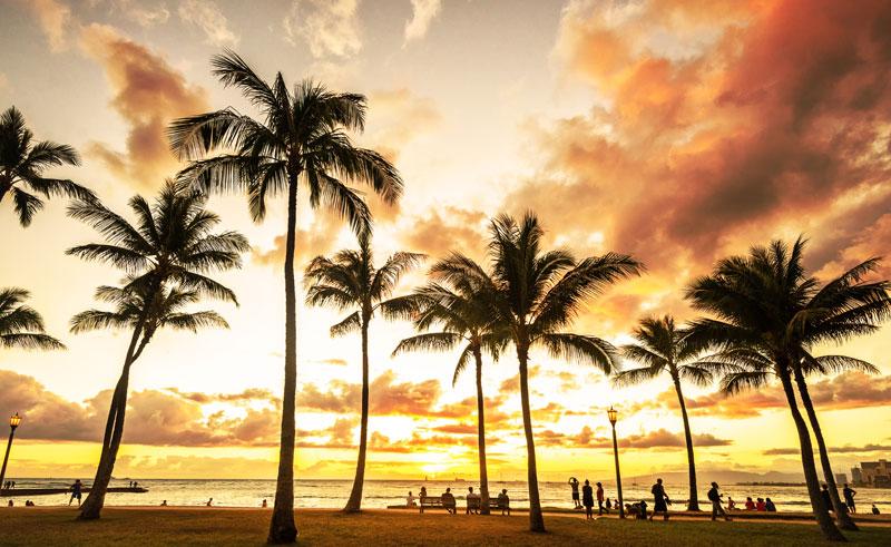 hawaii big island waikiki sunset istk