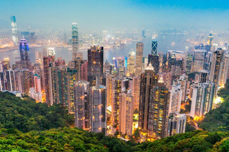 hong kong skyline dollar