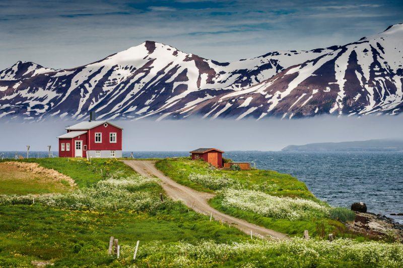 iceland north east eyjafjordur foggy rth