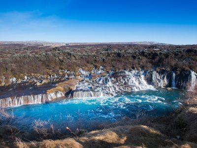 iceland west hraunfossar in april istk