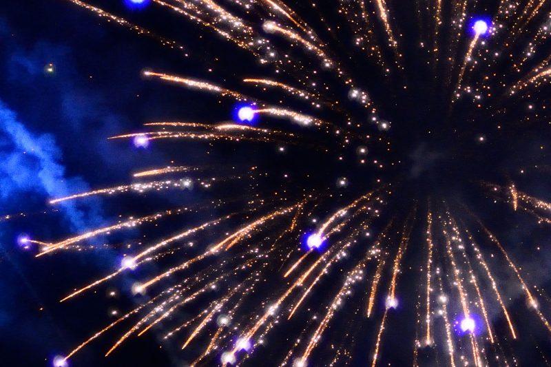 iceland west new year fireworks blue istk