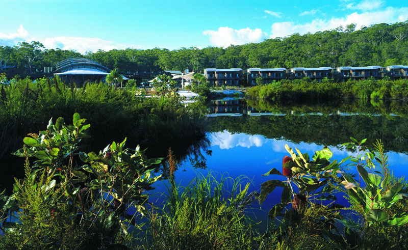 kingfisher bay resort exterior fraser island