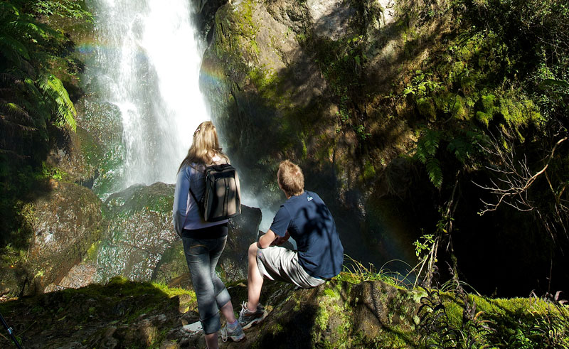 new zealand buried village of te wairoa waterfall