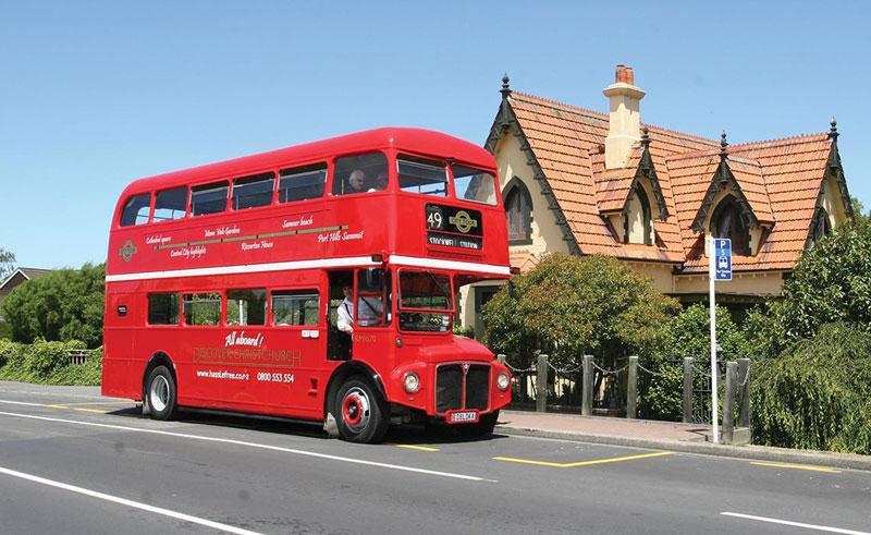 new zealand discover christchurch open tour bus