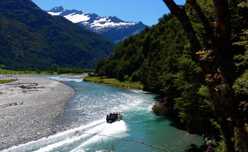 new zealand jet boat and wilderness walk lake wanaka