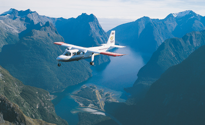 new zealand milford sound scenic flight rj