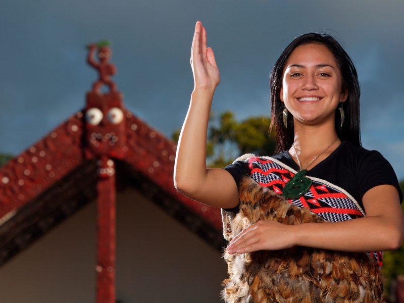 new zealand rotorua maori girl whakarewarewa village tnz