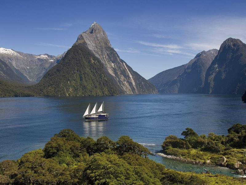 new zealand southern lakes milford sound mitre peak cruise rjnys