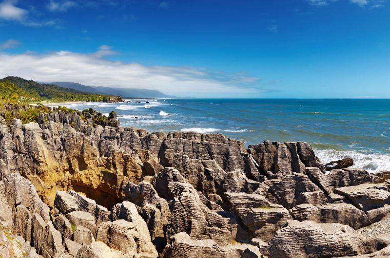 new zealand west coast punakaiki pancake rocks adstk