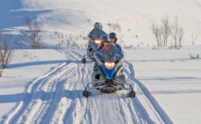 norway north lyngen alps snowmobiling la