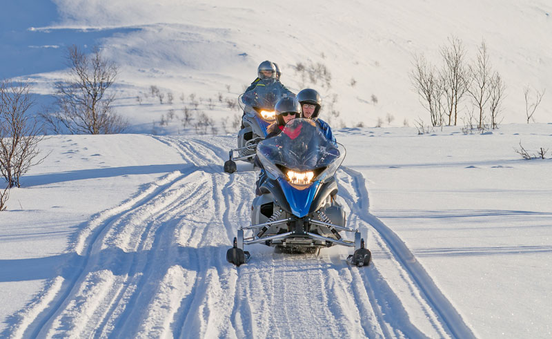norway north lyngen alps snowmobiling la