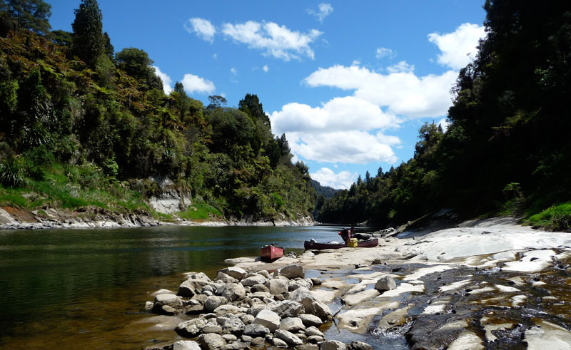 nz western north island whanganui river canoeing adventure