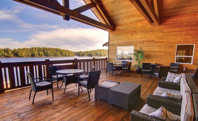 ocean house haida gwai outside deck