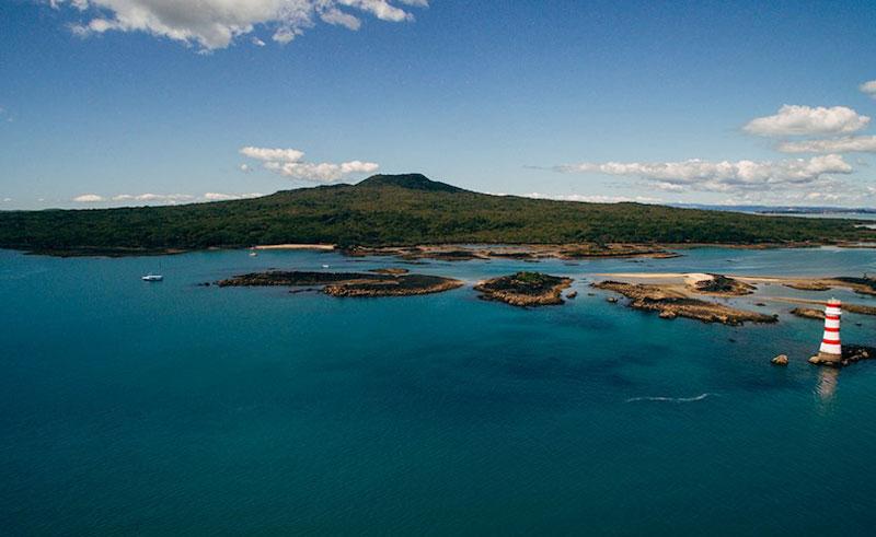rangitoto volcanic island tour wide view of hauraki gulf