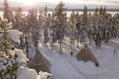 sapmi nature camp aerial view