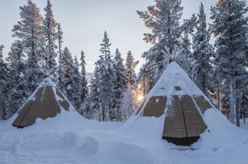 sapmi nature camp lavvus exterior