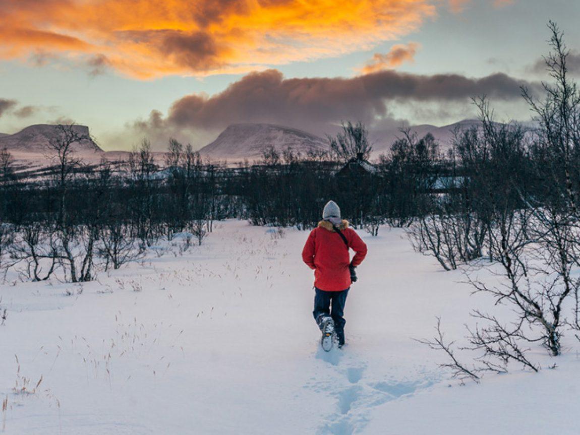 swedish lapland abisko mountains sunset gte