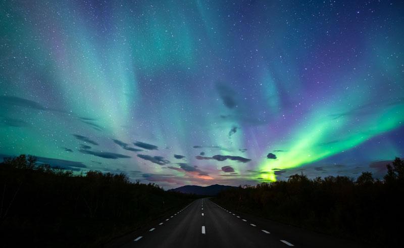 swedish lapland autumn aurora istk