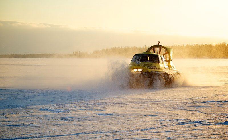 swedish lapland hovercraft tour to the pack ice lulea