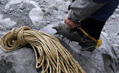 swedish lapland ice climbing at abisko
