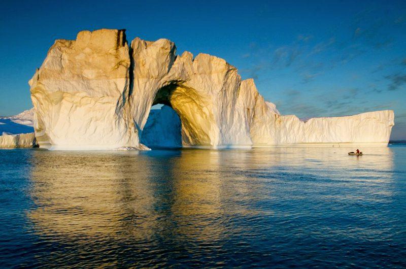 west greenland illulissat iceberg with sunlight vgrnlnd ug