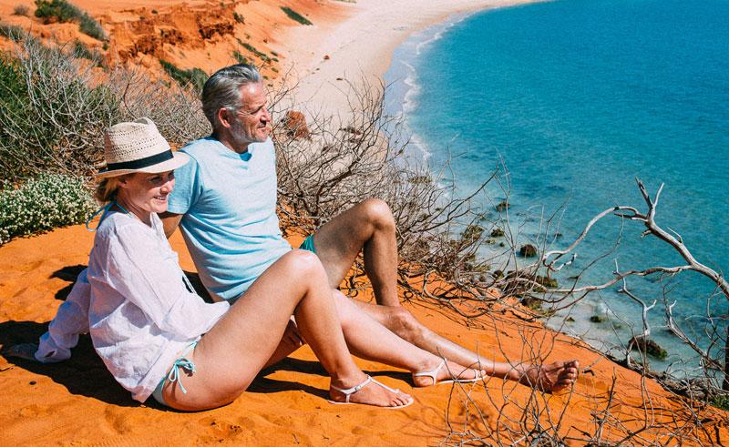 western australia francois peron national park beach view