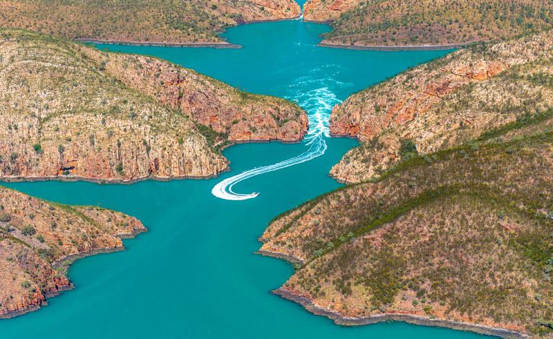 western australia horizontal waterfalls ariel view twa