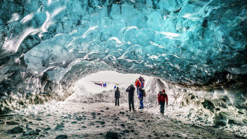 Breidamerkurjokull hikers glacier jpg