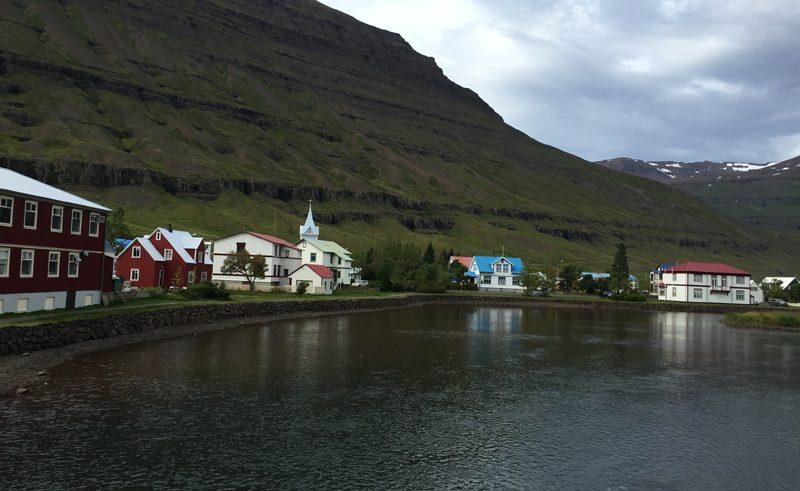 Houses town Seydisfjordur
