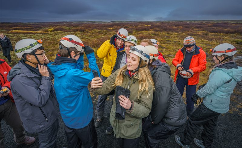 Iceland Student Group Lava Cave