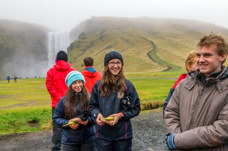 Iceland Students Group Waterfall 3