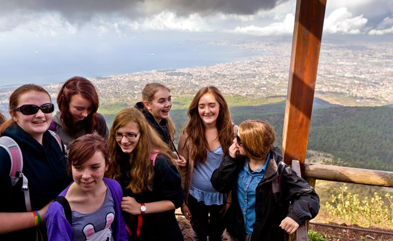 Italy Students Group Vesuvius