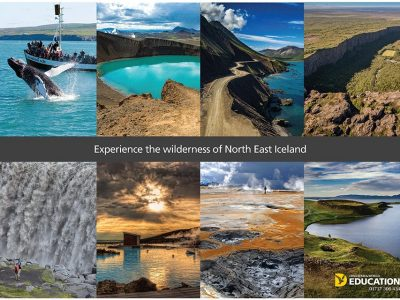 North East iceland poster PRINT