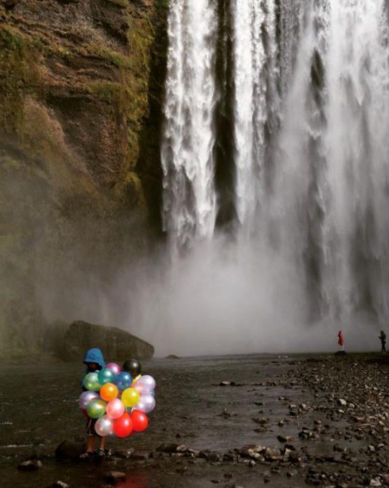 Sep 2017 winner Jane Huntley Iceland balloons