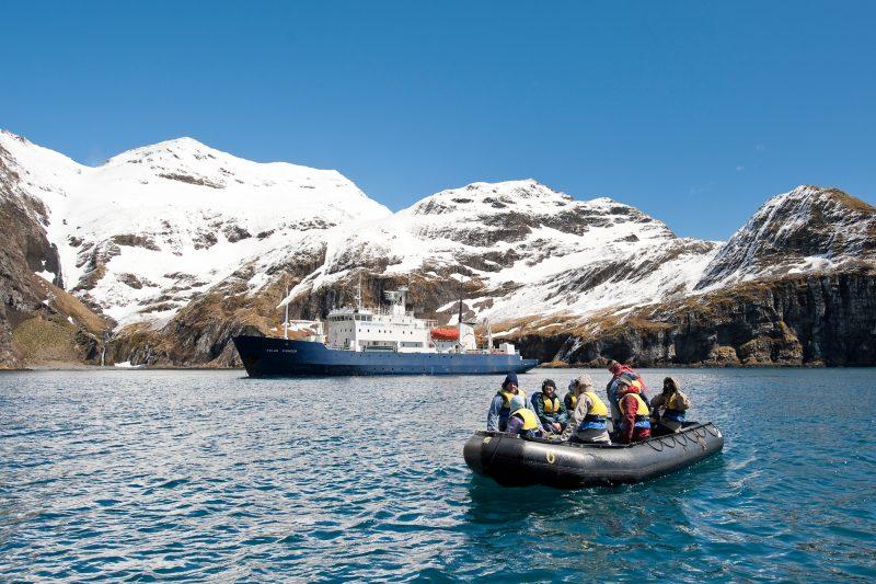 antarctica south georgia zodiac and ship right whale bay markjones aurexped