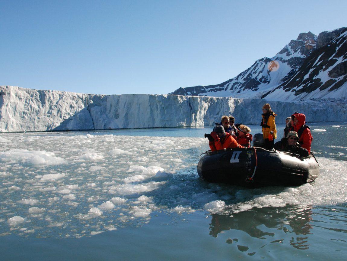 arctic spitsbergen zodiac at glacier front flpd rp