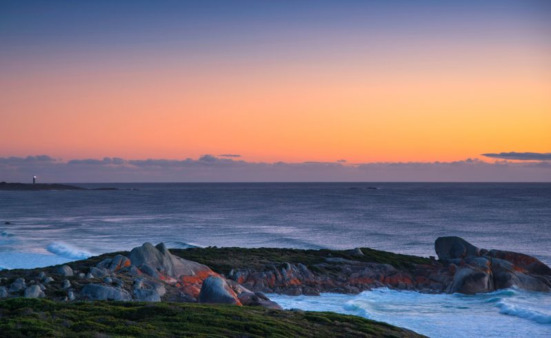 australia tasmania bay of fires eddystone point lookout tt