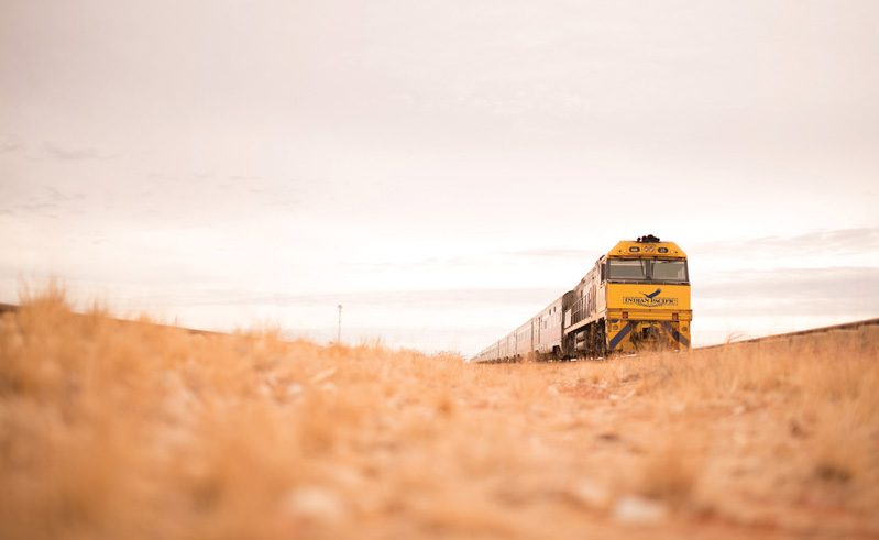australia train indian pacific crossing the nullabor