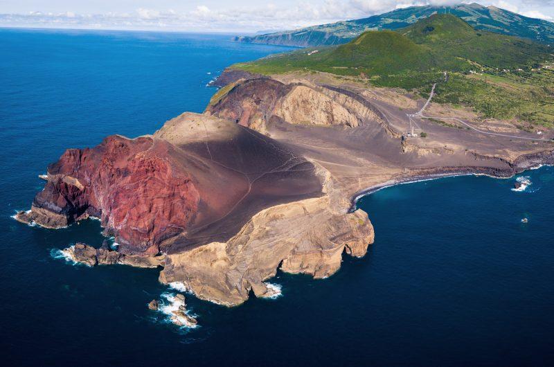 azores faial island capelinhos aerial view istk