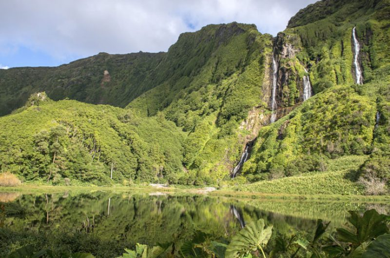 azores flores island waterfalls