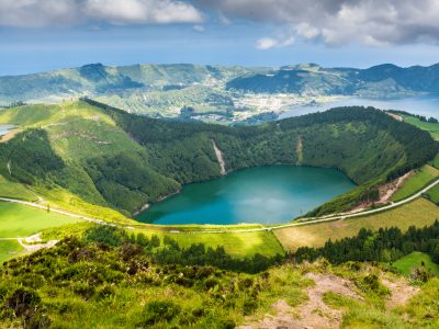 azores sao miguel island sete citades view istk