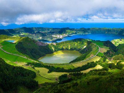 azores sete cidades green lake