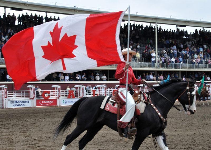 canada flag stampede