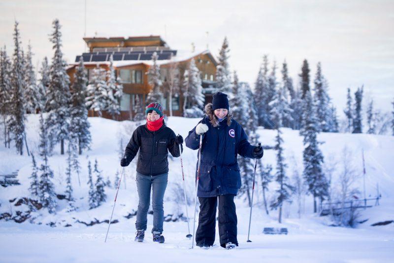 canada northwest territories cross country skiing pair bll