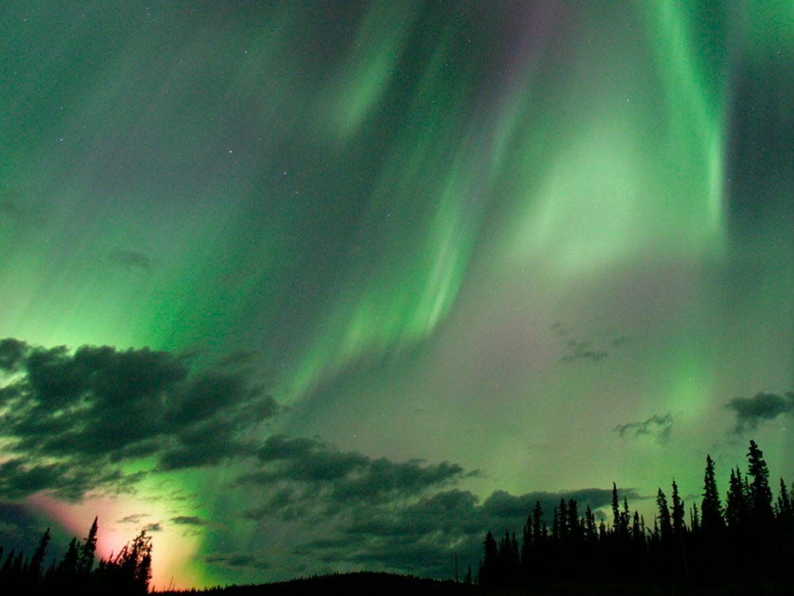 canada yukon aurora sky tyukon