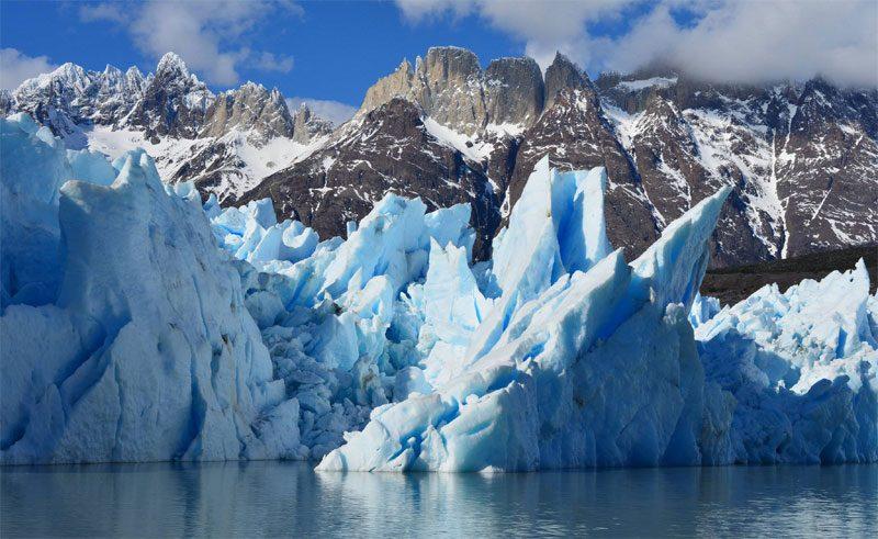 chile patagonia glaciers blue ice