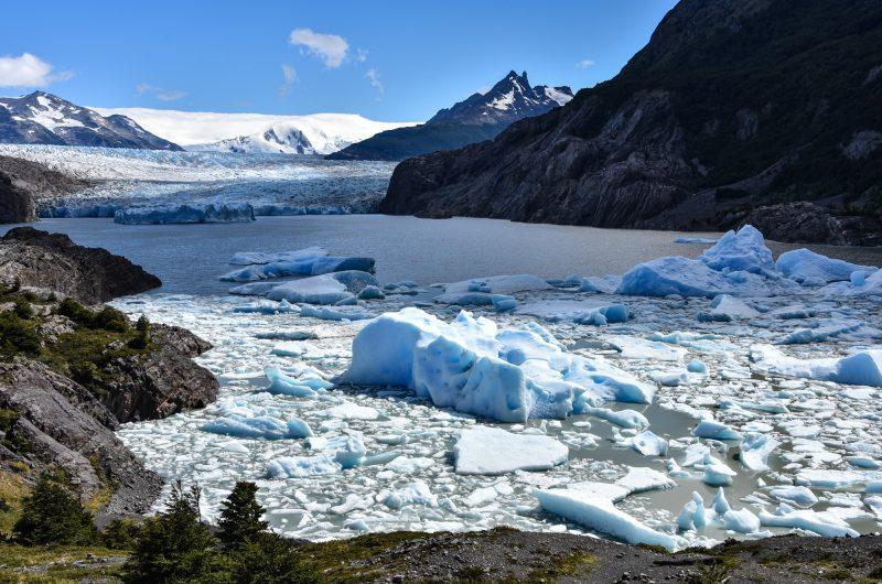 chile patagonia grey lake and grey glacier istk