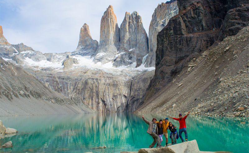 chile patagonia torres del paine selfie